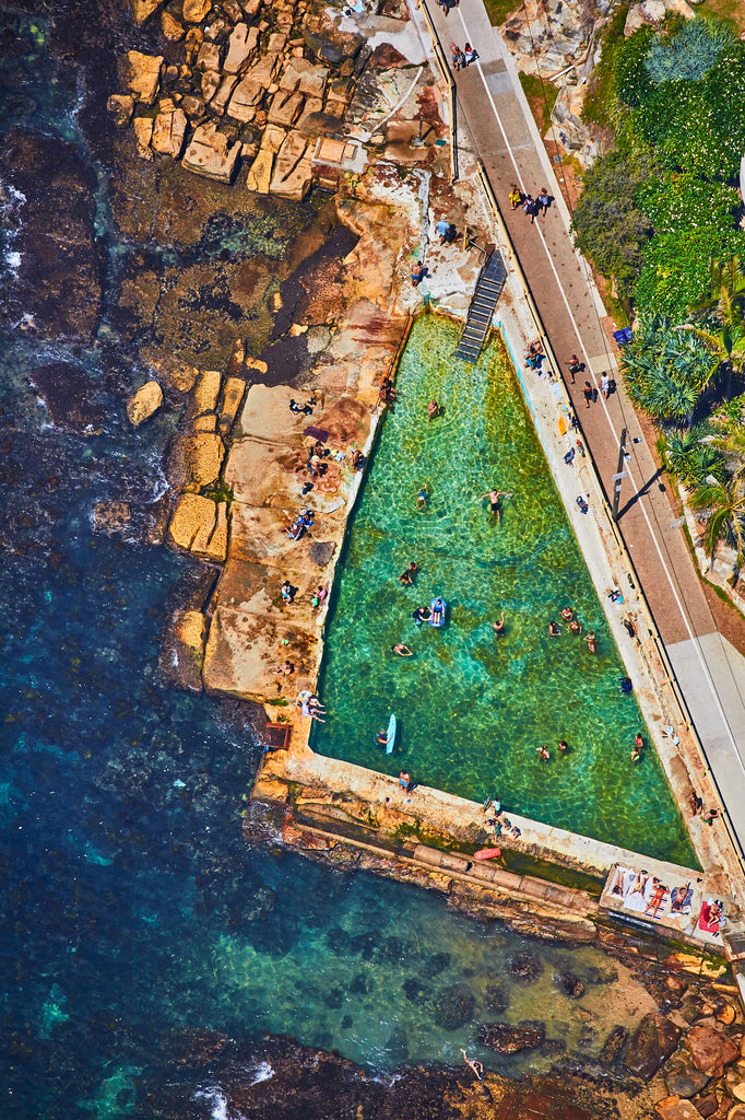 Fairy Bower Rock Pool, Vertical Print