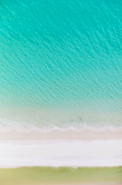 Layers, Whitehaven Beach, Vertical Print