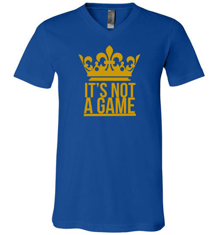 """IT'S NOT A GAME"" V-Neck"