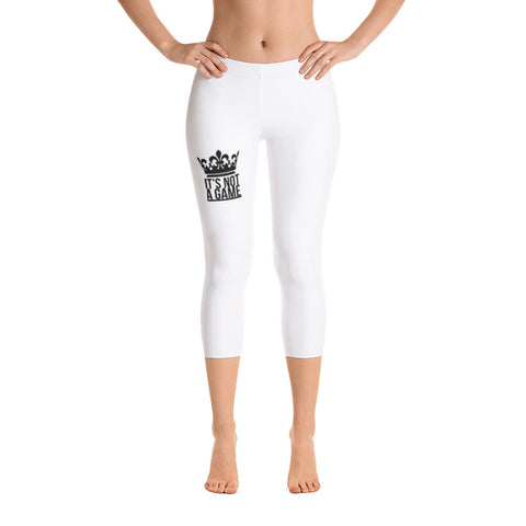 IT'S NOT A GAME Capri Leggings