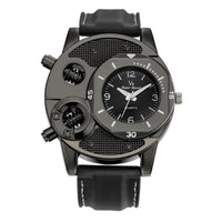 2019 Fashion Sports Thin Silica Gel Quartz Black Watch