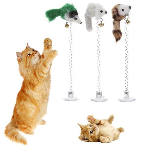 New Funny Cat Toys Elastic Feather Toys