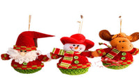 Christmas Tree Decoration Santa Claus cloth hanging pieces Ornaments - sparklingselections