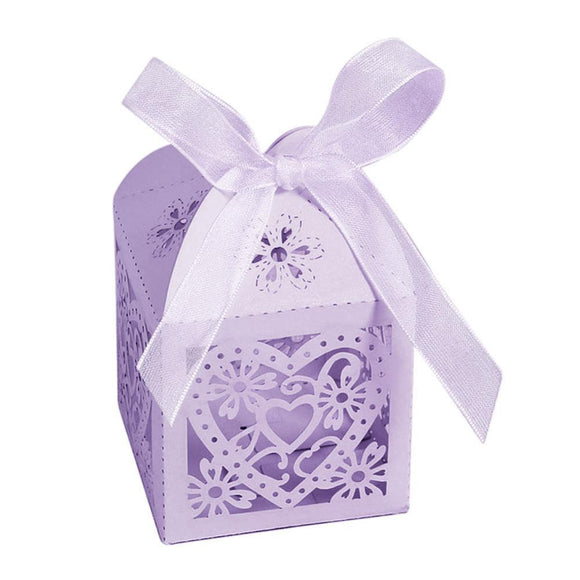 New Stylish Love Heart Party Wedding Hollow Candy Boxes