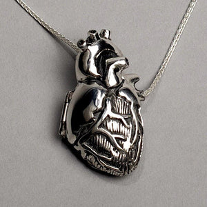 Anatomical Heart Pendant Necklace