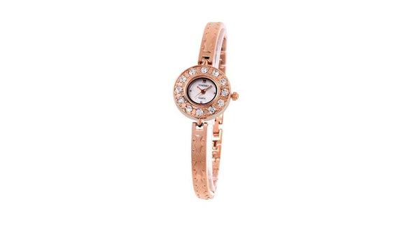 Diamond Pearl Shell Dial Jewelry Clasp Lady Quartz Watch Gift