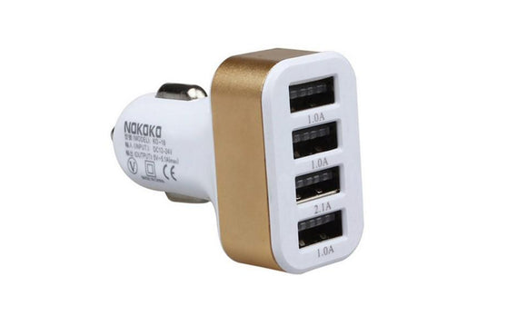 4 Ports USB HUB DC Power Charging Adapter