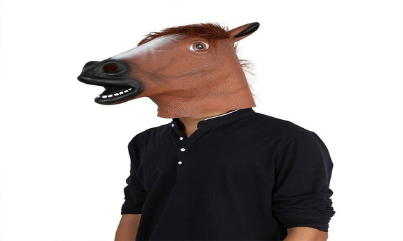 Horse Head Mask Animal Costume Prop Style Toys