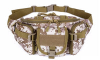 High Quality Unisex Fanny Pack Hiking Fishing Hunting Waist Bags Nylon Resistant Military Tactical Bags For Women Men - sparklingselections