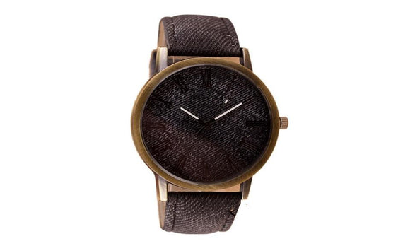 Vintage Retro Leather Analog Quartz WristWatch