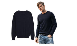 Warm Long Wool Crewneck Pullover Shirt Sweater
