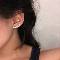 New Fashion Silver Color Stars Element Crystal Earrings