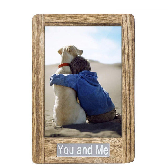 Picture Photo Frame 5x7 for Table Top Display and Wall Mounting You and Me Theme Vertical Picture Frame Valentine Day