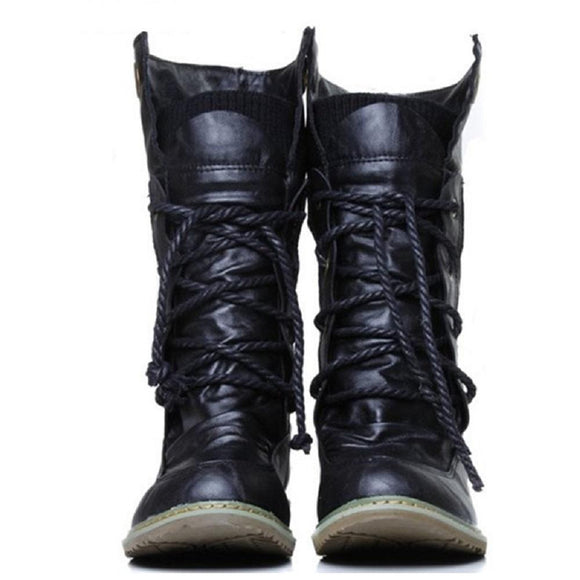 Fashion Motorcycle Ankle Boots For Women