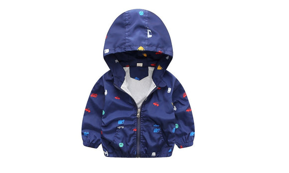 Casual Hooded Kids Outerwear Coats