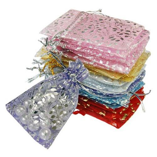 25pcs/set Organza Jewelry Wedding Gift Pouch Bags