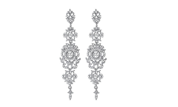 Stylish Crystal New Wedding Long Earrings