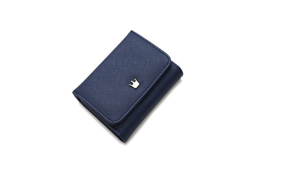 Crown Leather Short Women Wallets