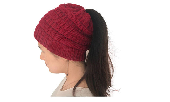 Winter Warm  Knitted Bonnet Hats For Women