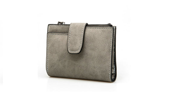 Clutch Solid Vintage Matte Women Wallet