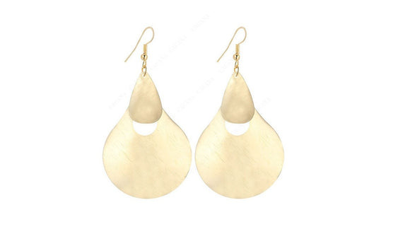 Gold Plated Dangle Big Shape Long Earrings For Women