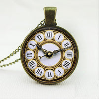 Galaxy Collar Fake Clock Statement Necklaces For Women - sparklingselections