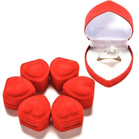 Valentine's Day Heart Shape Ring Box Storage Gift Box - sparklingselections