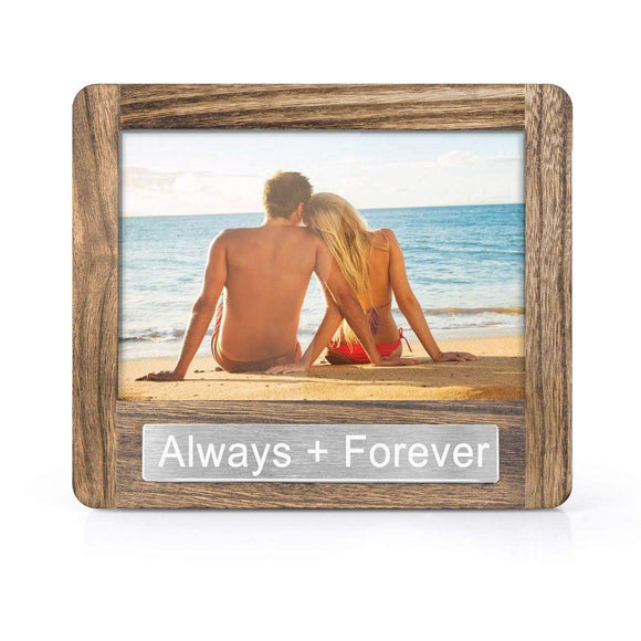 Photo Frame 4x6 for Table Top Display and Wall Mounting Always Forever Theme Valentine Day
