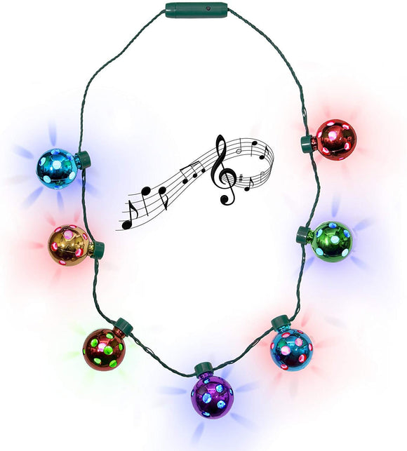 LED Jingle Bell Necklace for Kids Chirstmas Gift