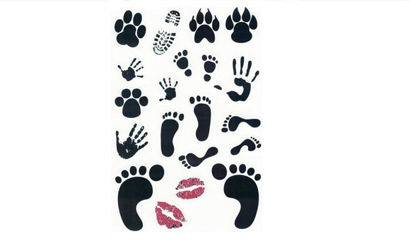 Footprints Mouth Pattern Laptop Netbook Tablet Skin Sticker