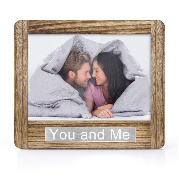 Photo Frame 5x7 for Table Top Display and Wall Mounting You and Me Theme Valentine Day