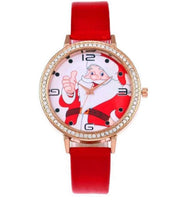 Christmas Dial PU Leather Women Watch