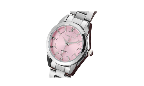 Pink Dress Luxury Rhinestone Quartz-Watch for Women