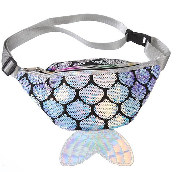 Feminine Colorful Sequin Waist Bag Chest Pouch Shoulder Bag Fanny Pack