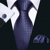 Men Woven Business Silk Tie Formal Wedding Necktie Set Gift