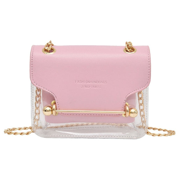 New Luxury Female Transparent Square PVC Bag Shoulder Bag Wallet Handbag