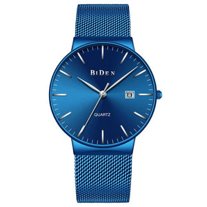 Designing Luxury Royal Blue Stainless Steel Watch For Men