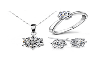 Beautiful Silver Fashion Jewellery Sets for Women - sparklingselections