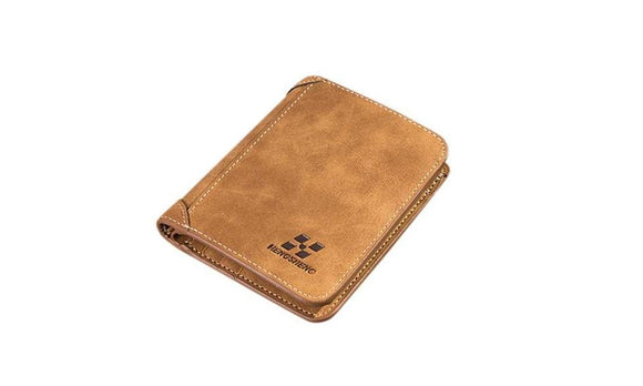 Durable Pu Leather Card Holder Folding Wallet For Men