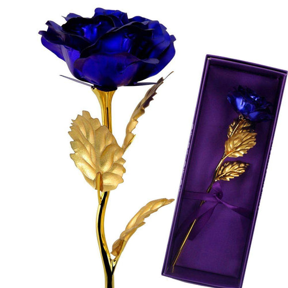24K Gold Foil Artificial Forever Rose Personalized Gifts for Valentine Day