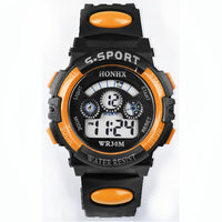 Sports Digital LED Watch with Alarm Date Fashion Orange Comfortable Wristwatch For Men