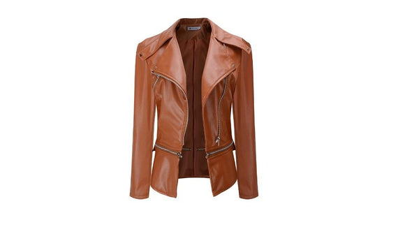 Steampunk Motorcycle PU Leather Women Jacket Gothic Coat