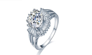 Princess 2.5 Carat Zircon Anillo Engagement Wedding Ring