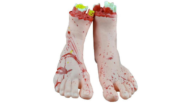 Halloween Horror Props Bloody Foot