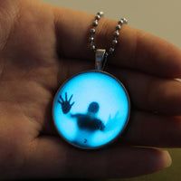 Steampunk Fire Glow in the Dark necklaces Glowing Shadow Pendant - sparklingselections