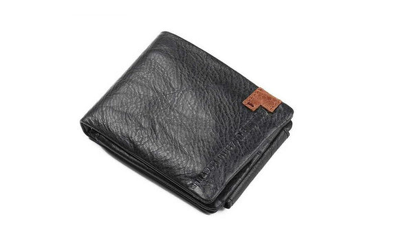 Luxury PU Leather Folding Wallet For Men