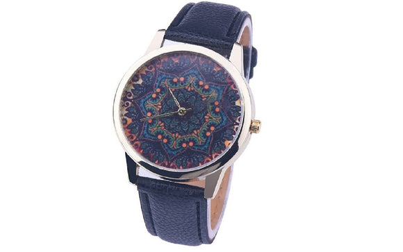 Fashion Neutral Table Print Analog Quartz Vogue Men's Wrist Watch