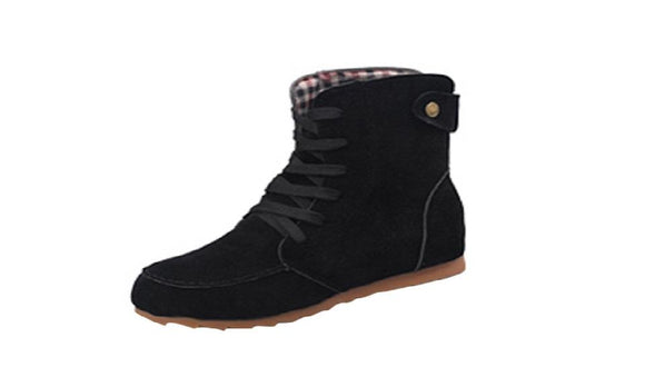 New Autumn Winter Women Flat Ankle Snow Boots