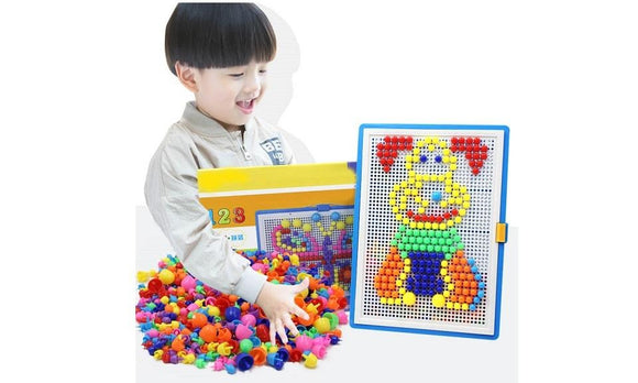 296pcs Mosaic Picture Puzzle Composite Intellectual Educational Toy
