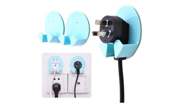 Power Plug Socket Holder Sticky Hook Wall Hanger